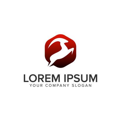 moderne sprong Herten logo ontwerpsjabloon concept. volledig aanpasbaar ve vector