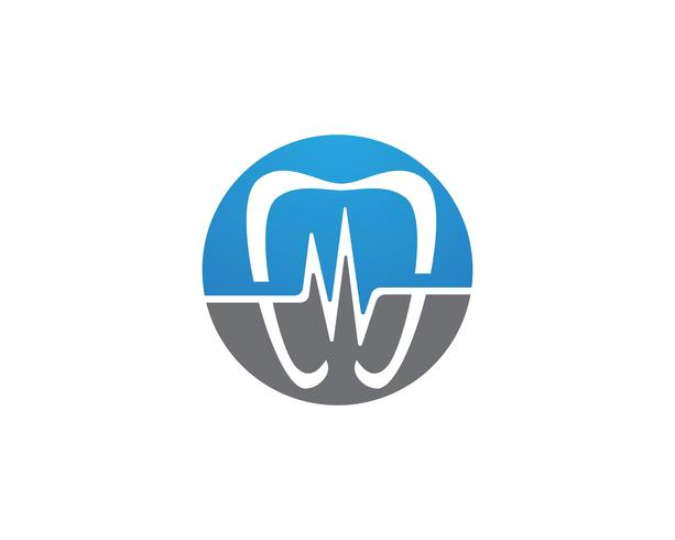 Tandheelkundige zorg logo en symbolen sjabloon pictogrammen vector