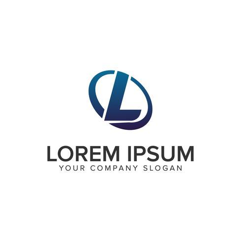 Creatieve moderne letter L Logo ontwerpsjabloon concept. volledig uitgewerkt vector