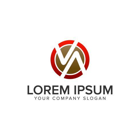 Letter V en A cirkel logo ontwerpsjabloon concept. volledig editab vector
