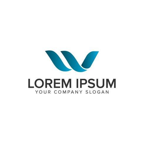letter W logo ontwerpsjabloon concept. volledig bewerkbare vector