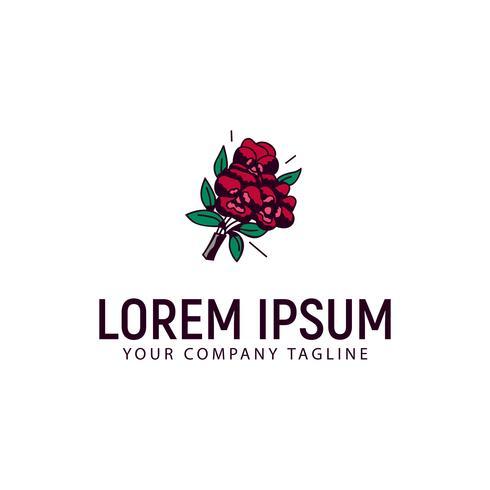 bruiloft bloemstukken logo hand getekend ontwerpconcept templ vector