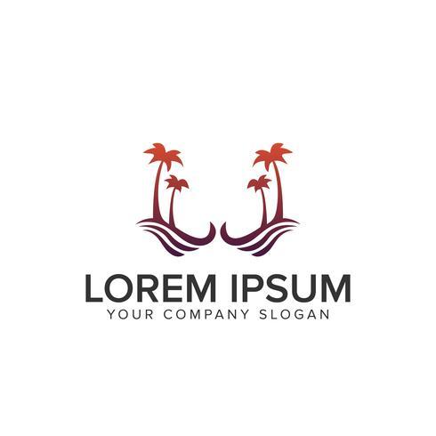 palmboom logo. vakantie logo vector