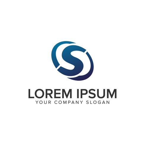 Creatieve moderne brief S Logo ontwerpsjabloon concept. volledig uitgewerkt vector