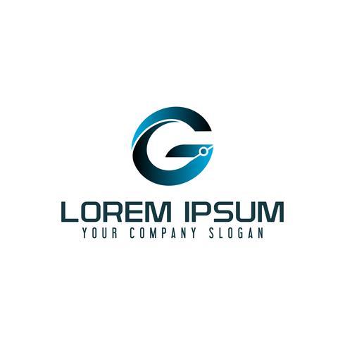 letter G technologie logo ontwerpsjabloon concept vector