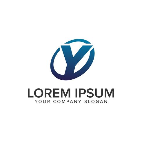 Creatieve moderne letter Y Logo ontwerpsjabloon concept. volledig uitgewerkt vector