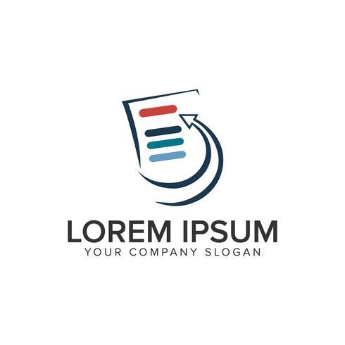 lijst document logo ontwerpsjabloon concept. volledig bewerkbare vecto vector