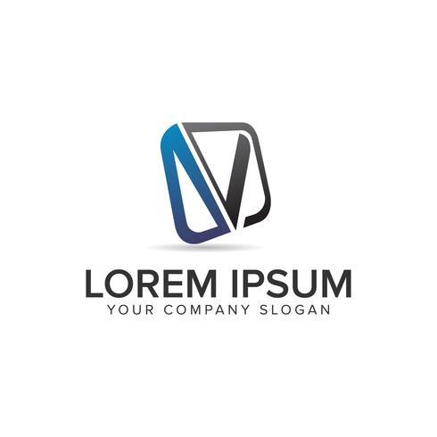 letter V moderne vierkante logo ontwerpsjabloon concept. volledig edita vector