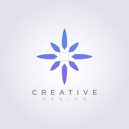 Vector Logo ontwerp symbool ster pictogram moderne decoratieve