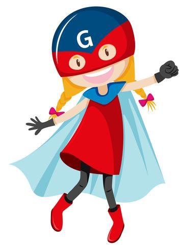 Een vrouwelijk superheldenkarakter vector