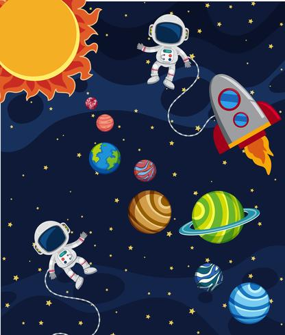 Een scène van het zonnestelsel vector