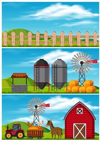 Een mooi landbouwlandschap op het platteland vector