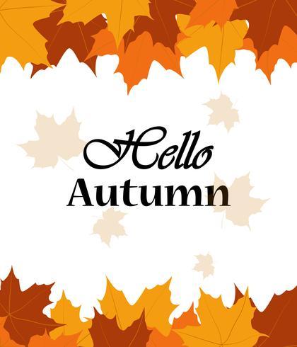Hallo herfst verkoop spandoeksjabloon met kleurrijke val laat achtergrond vector