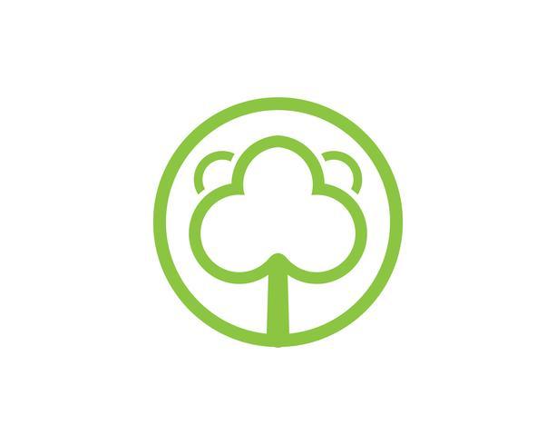 Boom groene identiteitskaart vector logo sjabloon
