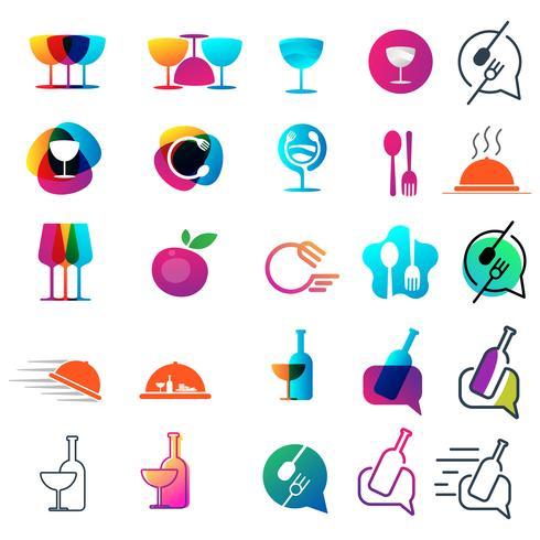 voedsel chef-kok logo collectie ontwerp vector pictogram element