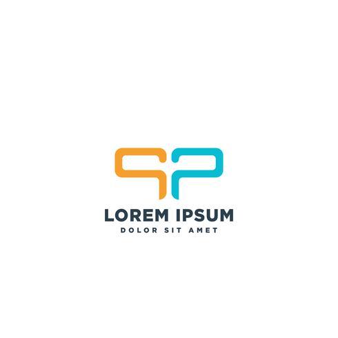 logo letter SP eenvoudige logo sjabloon vectorillustratie vector