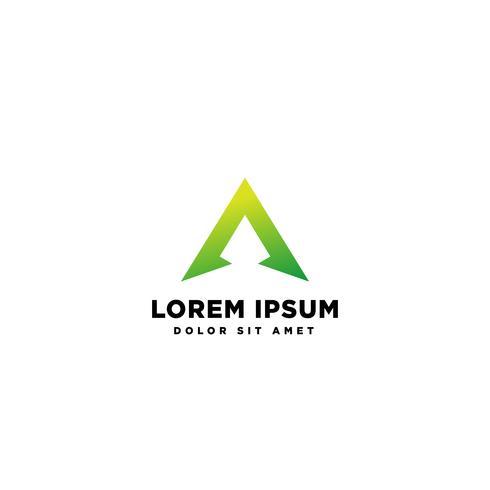 Letter A Abstracte creatieve logo sjabloon vectorillustratie vector