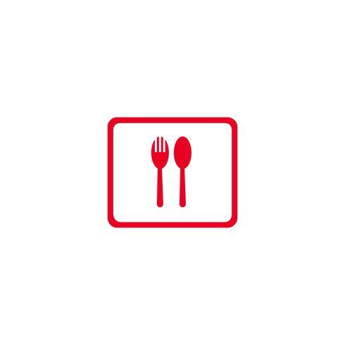 eten en drinken pictogram logo ontwerp vectorillustratie vector