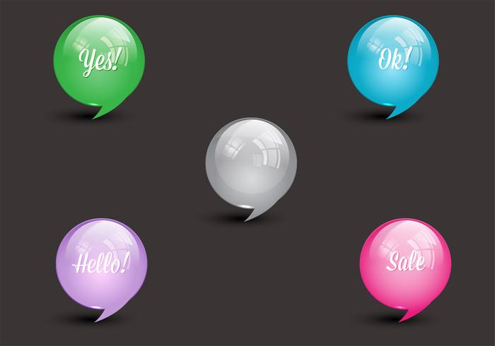 Glanzende spraak bubbels Vector