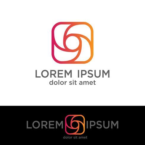 fotografie creatieve logo sjabloon, vector illustratie elementen