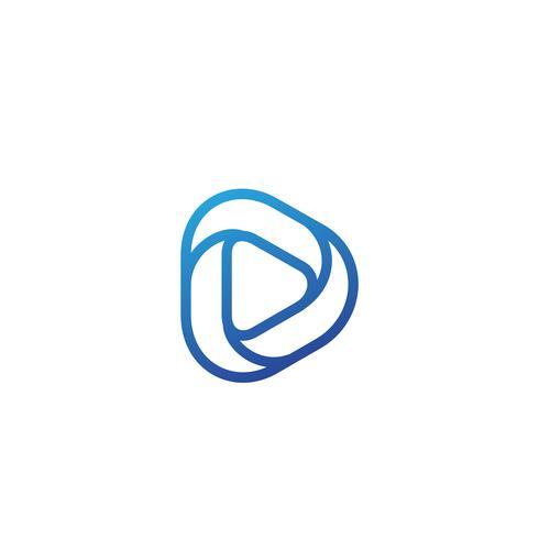 letter d creatieve logo sjabloon vector illustrator