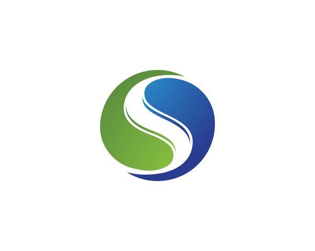 S natuur logo en symbolen sjabloon vector iconen