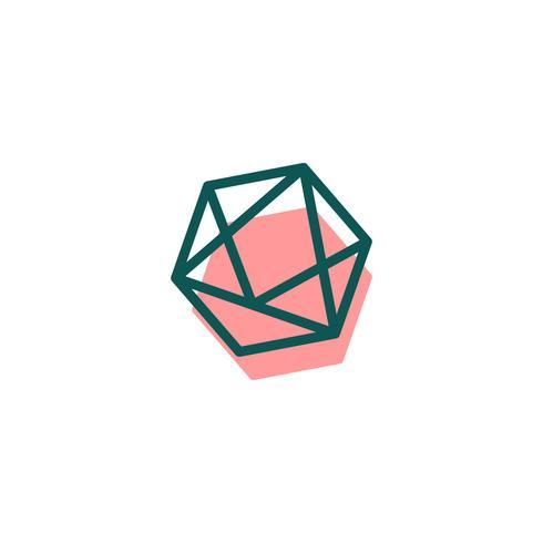 steen, diamant, edelsteen logo sjabloon, pictogram geïsoleerde elementen vector