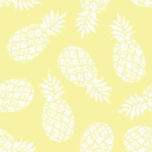 Ananas vector naadloze patroon voor textiel, scrapbooking of inpakpapier.