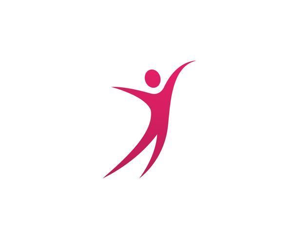 Gezondheid mensen geven logo en symbolen sjabloon vector