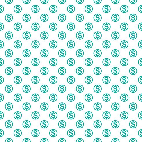Naadloos patroon met dollarteken. Herhalende valutasymboolachtergrond voor textielontwerp, verpakkend document, scrapbooking enz. vector