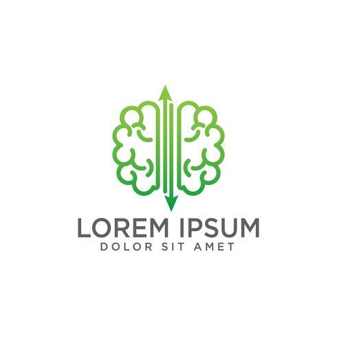 hersenen concept logo sjabloon vectorillustratie en inspiratie vector