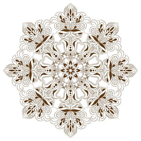 Oosters decoratief element voor volwassen kleurend boek. Etnisch zwart-wit ornament vector