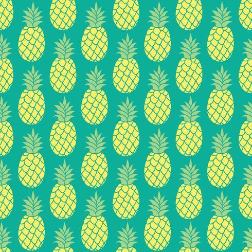 Ananas vector achtergrond. Ananas naadloos patroon. Ananas textielpatroon. Ananas herhalende achtergrond, zomer kleurrijke ananas textieldruk. Ananasachtergrond voor het scrapbooking.