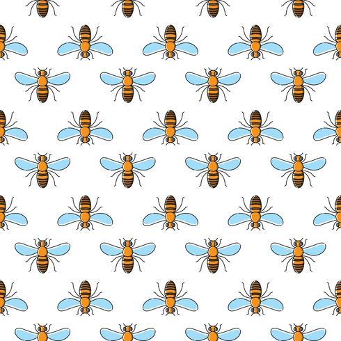 Bee vector naadloze patroon voor textielontwerp, behang, inpakpapier