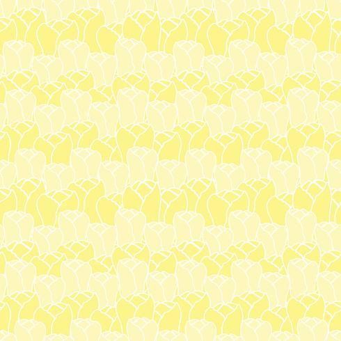 Bloemenpatroon met tulpen. Vector bloemenpatroon Naadloze bloemenachtergrond.