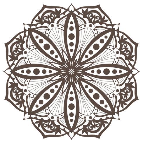 Vector Mandala. Oosters decoratief element. Etnisch ontwerpelement.