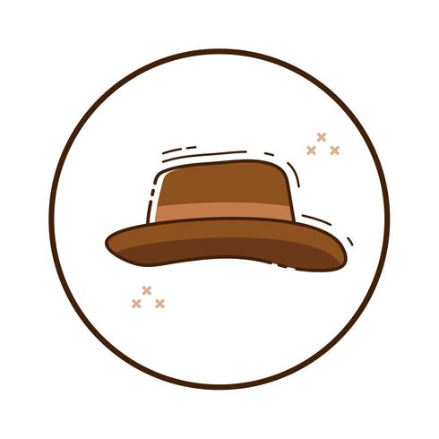 Lijn art maffia hoed vector