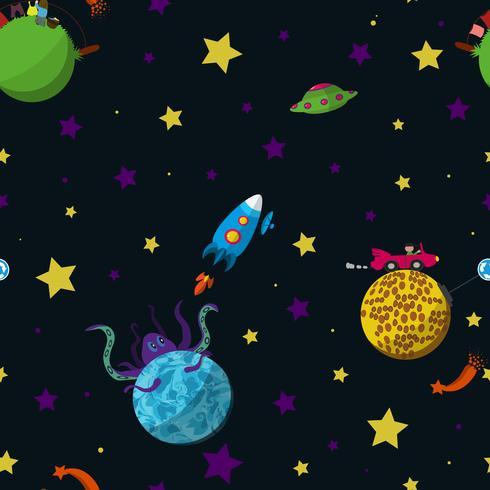 Naadloos ruimtepatroon vector