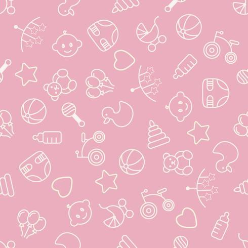 Babyspeelgoed naadloos patroon. Kan worden gebruikt voor textiel, papier en ander ontwerp. vector