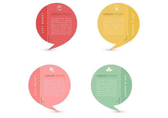 Speech bubble coupons vector set