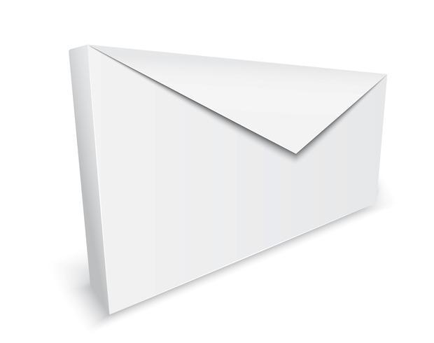 realistische envelop achtergrond vector