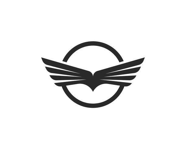 Falcon Wing Logo Template vector pictogram ontwerp