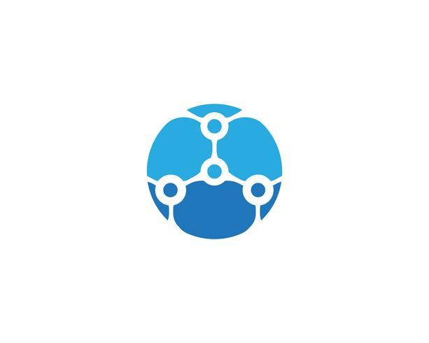 molecuul logo-vectoren vector