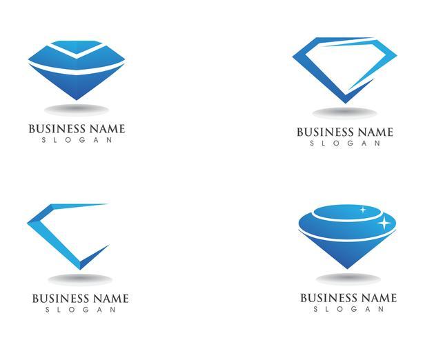 Diamant logo symbool vector sjabloonpictogram