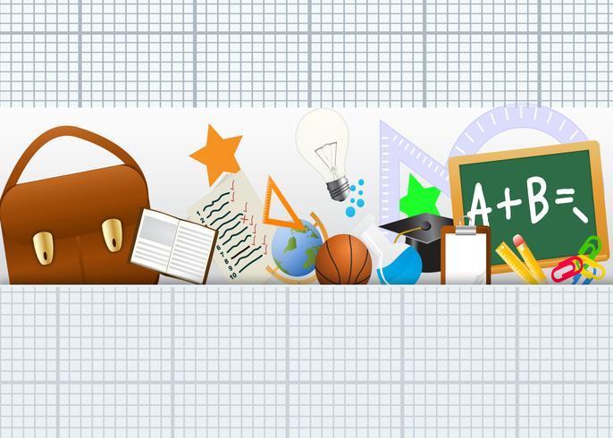 Terug naar school pictogrammen instellen vector