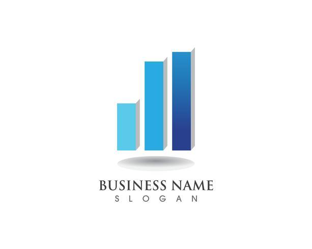 Financiën logo en symbolen vector