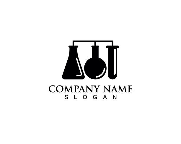 Laboratorium logo en symbolen vector lab