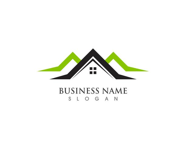 huis en huis logo's sjabloon vector