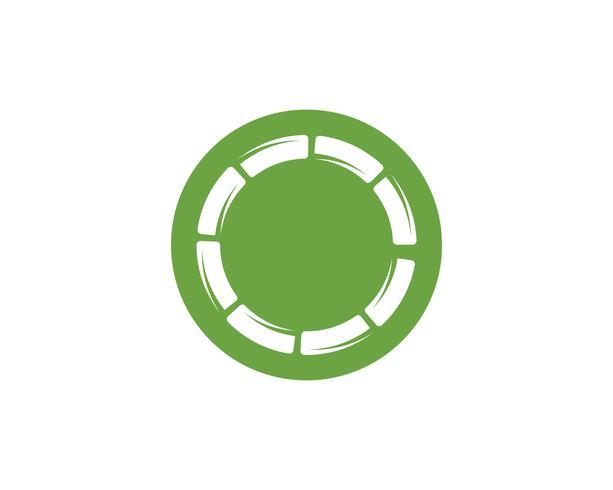 Bamboe-logo met groen blad voor uw pictogram vector sjabloon