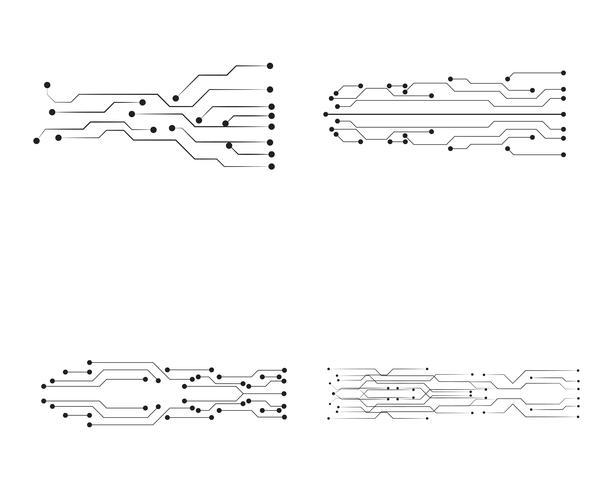 circuit illustratie vector sjabloonlijn